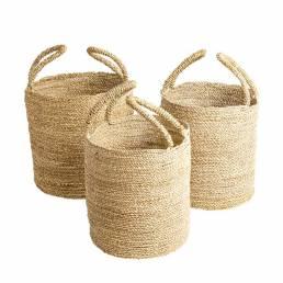 BA0013.00 Natural Seagrass Basket set-3