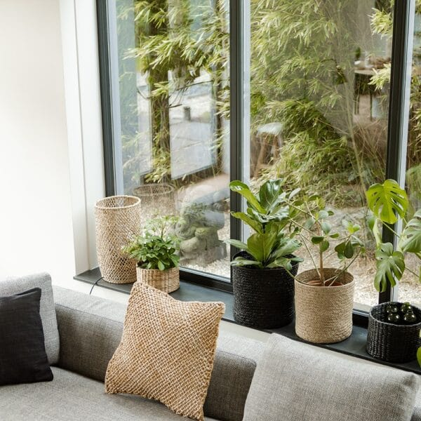 corner with cushions and lampshade from abaca living room